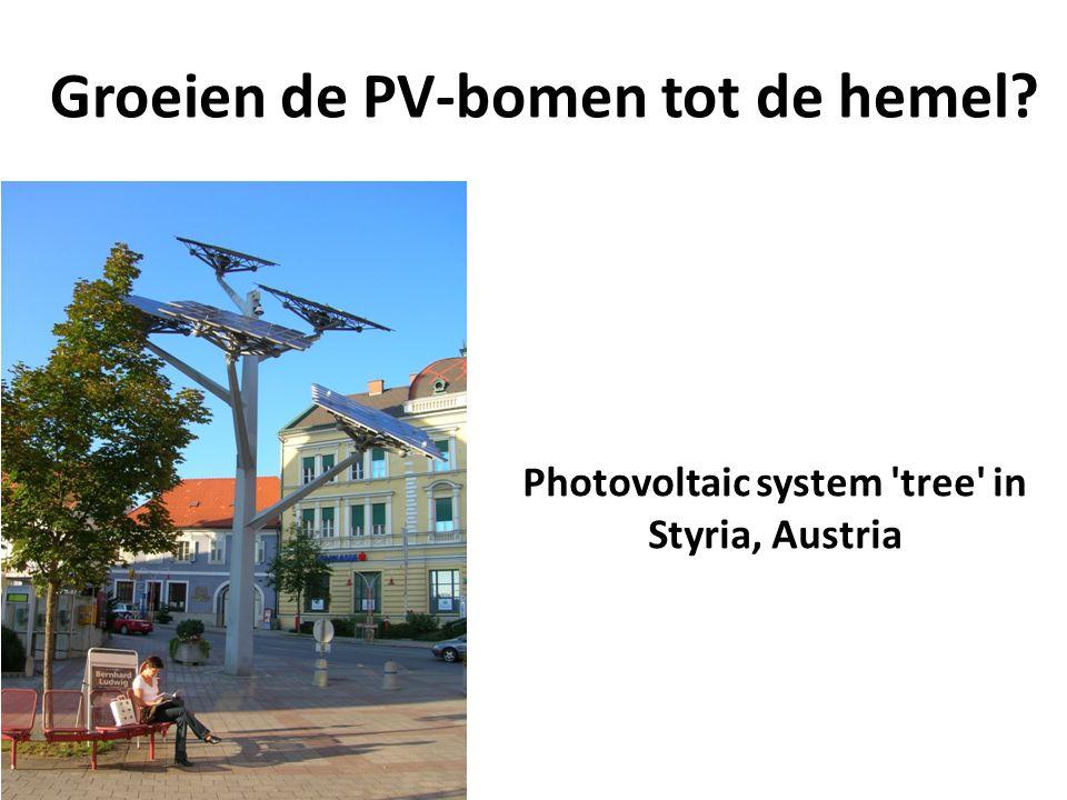 Groeien de PV-bomen tot de hemel? Photovoltaic system 'tree' in Styria, Austria