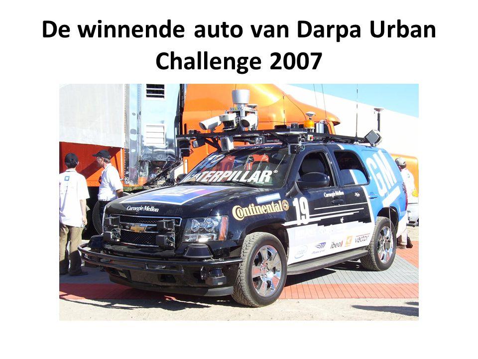 De winnende auto van Darpa Urban Challenge 2007