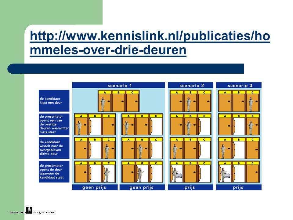 http://www.kennislink.nl/publicaties/ho mmeles-over-drie-deuren