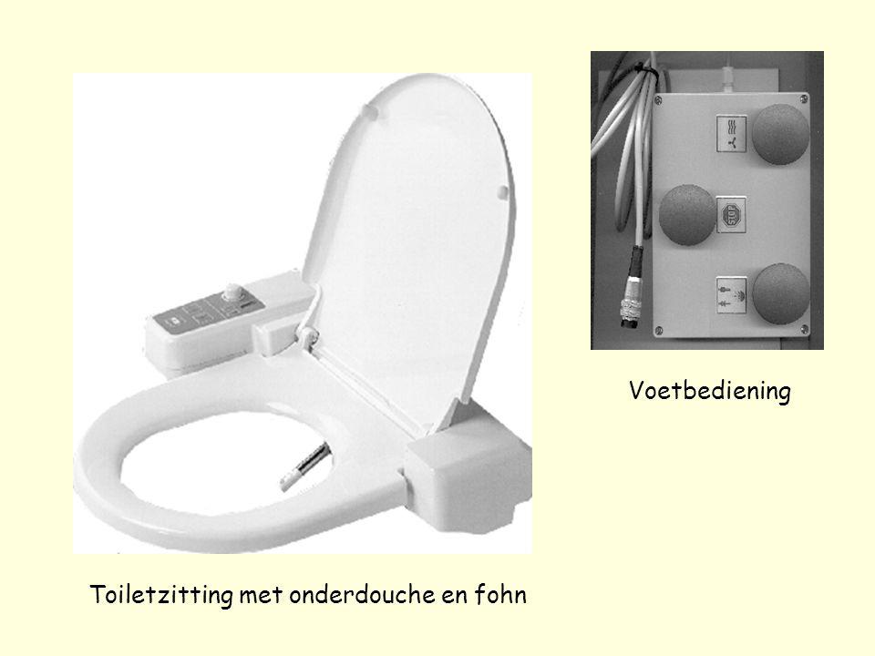 Toiletzitting met onderdouche en fohn Voetbediening