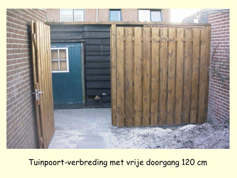 Tuinpoort-verbreding met vrije doorgang 120 cm