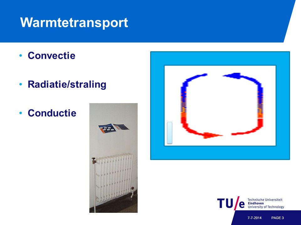 Warmtetransport Convectie Radiatie/straling Conductie PAGE 37-7-2014