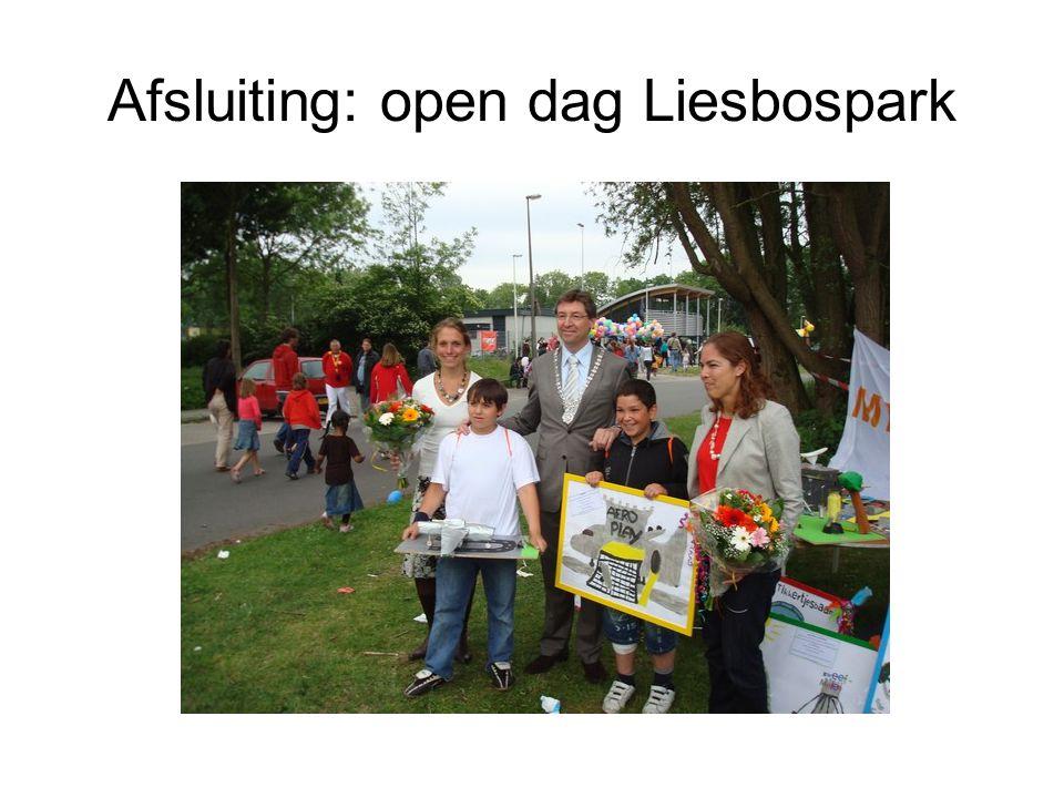 Afsluiting: open dag Liesbospark