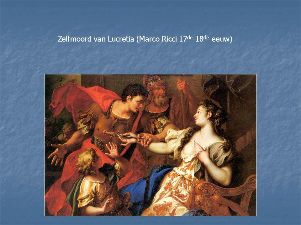 Zelfmoord van Lucretia (Marco Ricci 17 de -18 de eeuw)