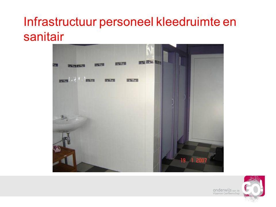 Infrastructuur personeel kleedruimte en sanitair