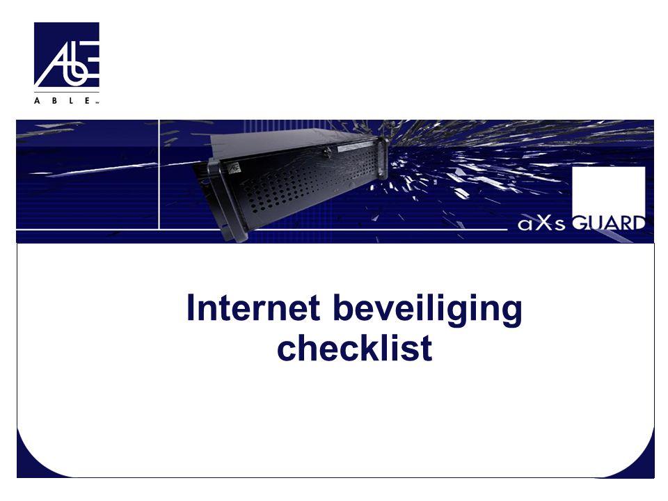 Internet beveiliging checklist