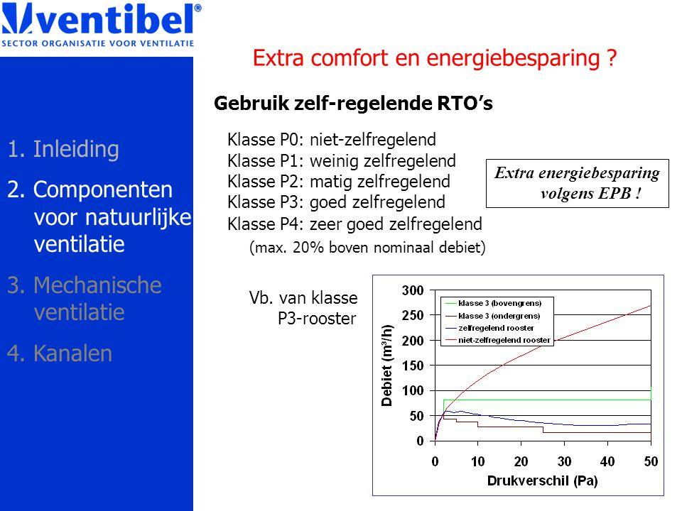 Gebruik zelf-regelende RTO's Klasse P0: niet-zelfregelend Klasse P1: weinig zelfregelend Klasse P2: matig zelfregelend Klasse P3: goed zelfregelend Kl