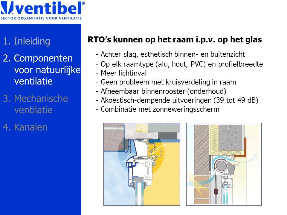 RTO's kunnen op het raam i.p.v. op het glas - Achter slag, esthetisch binnen- en buitenzicht - Op elk raamtype (alu, hout, PVC) en profielbreedte - Me
