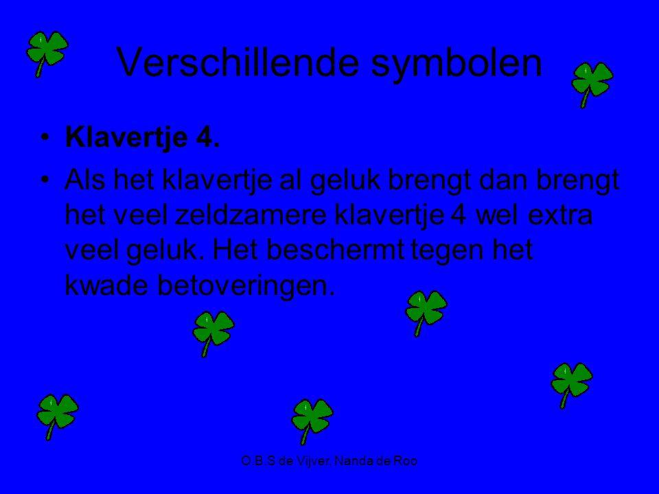 Verschillende symbolen Klavertje 4. Als het klavertje al geluk brengt dan brengt het veel zeldzamere klavertje 4 wel extra veel geluk. Het beschermt t
