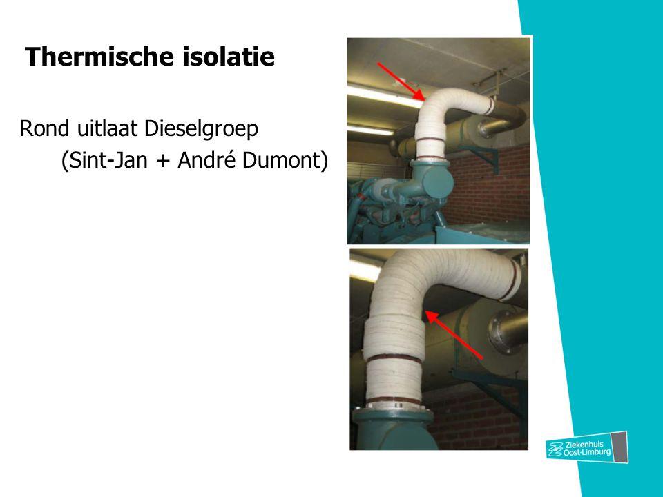 Thermische isolatie Rond uitlaat Dieselgroep (Sint-Jan + André Dumont)