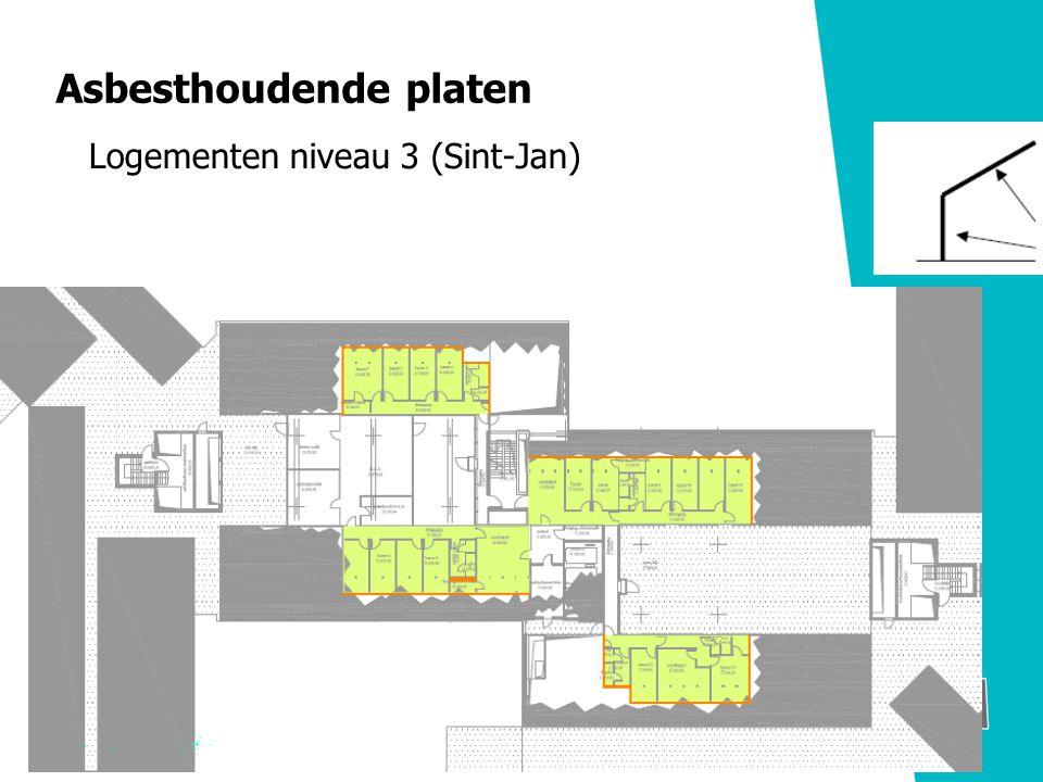 Asbesthoudende platen Logementen niveau 3 (Sint-Jan)
