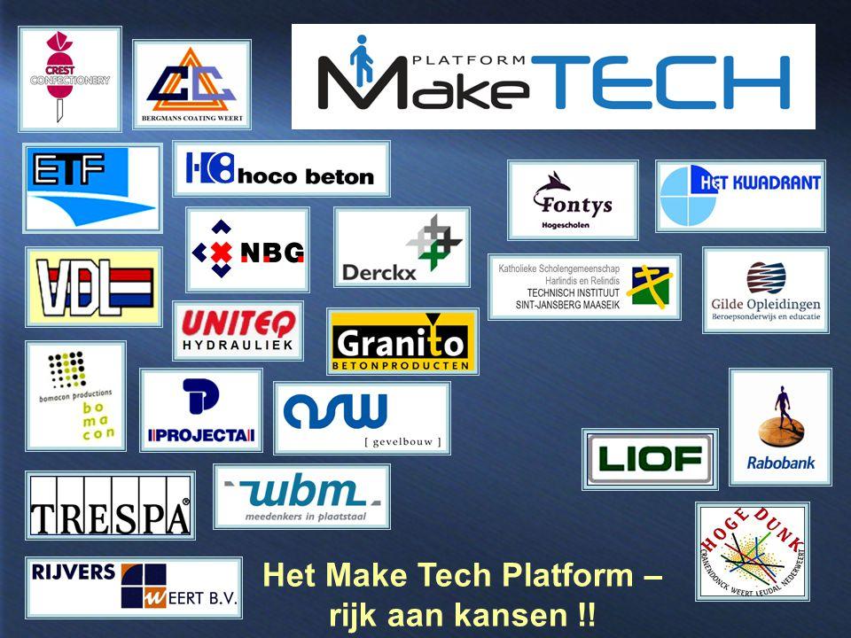 Het Make Tech Platform – rijk aan kansen !!