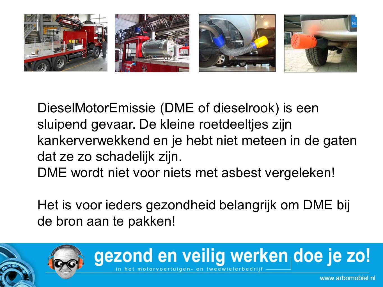 www.arbomobiel.nl Strategie actie Autoboulevards Met name in de winter, als de deuren van de werkplaats vaak dicht zitten, is het belangrijk om het probleem DME goed aan te pakken.