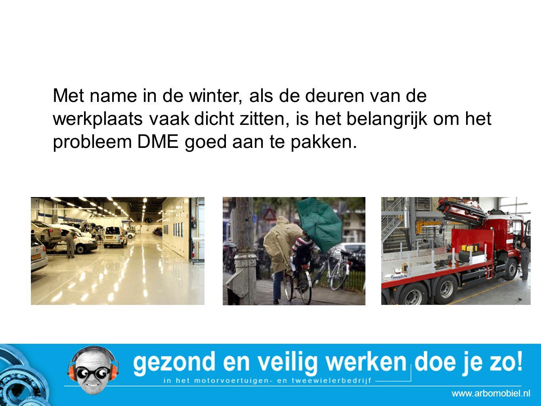 www.arbomobiel.nl Strategie actie Autoboulevards Tips om DME terug te dringen (1) Rijd het voertuig bij voorkeur direct in de werkplaats als de motor nog op temperatuur is en rijd stapvoets.