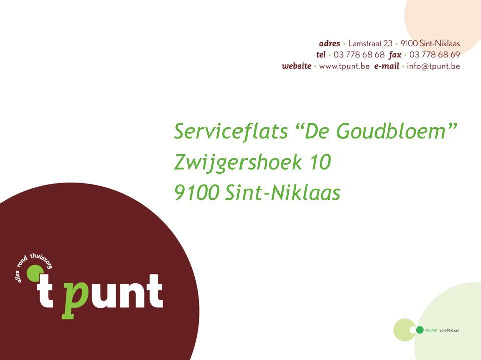 """Serviceflats """"De Goudbloem"""" Zwijgershoek 10 9100 Sint-Niklaas"""