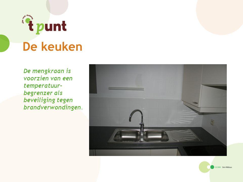 De keuken De mengkraan is voorzien van een temperatuur- begrenzer als beveiliging tegen brandverwondingen.