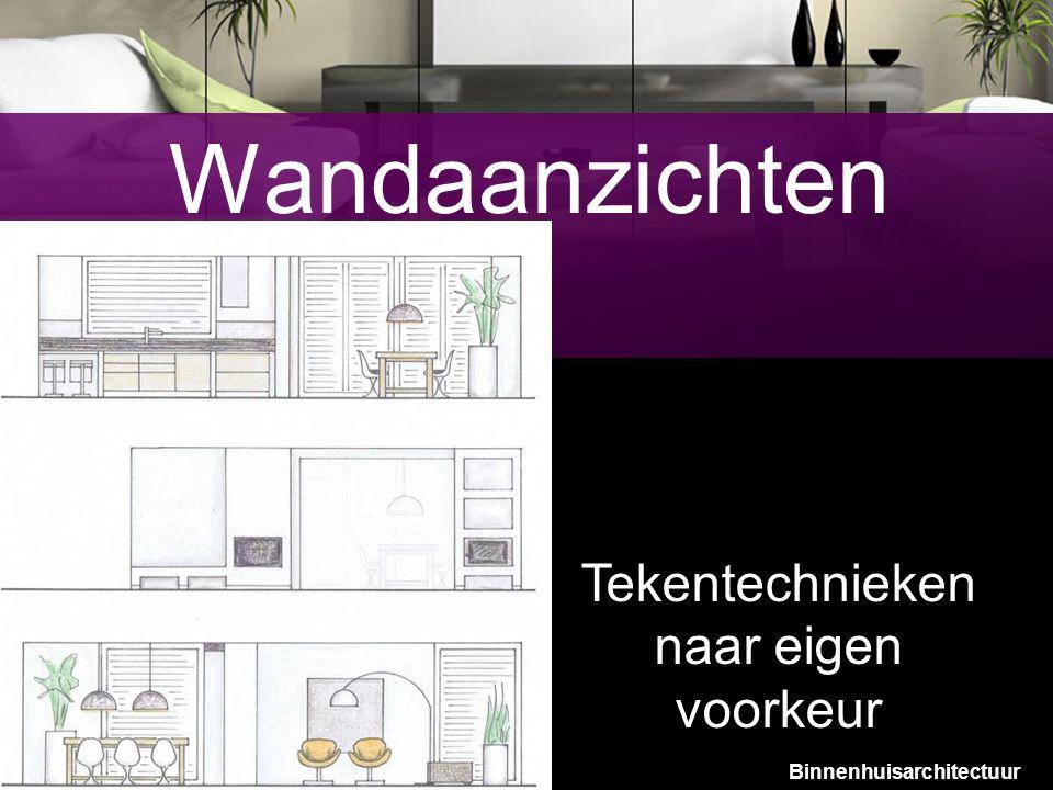 10 Wandaanzichten Tekentechnieken naar eigen voorkeur Binnenhuisarchitectuur