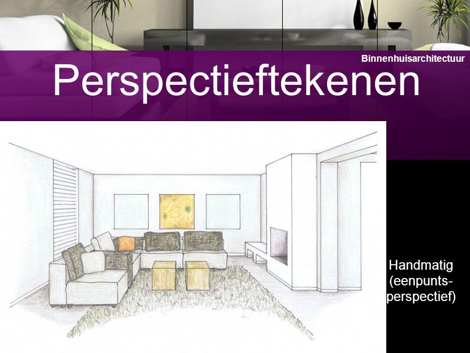 11 Perspectieftekenen Handmatig (eenpunts- perspectief) Binnenhuisarchitectuur