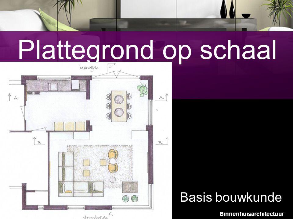 9 Plattegrond op schaal Basis bouwkunde Binnenhuisarchitectuur