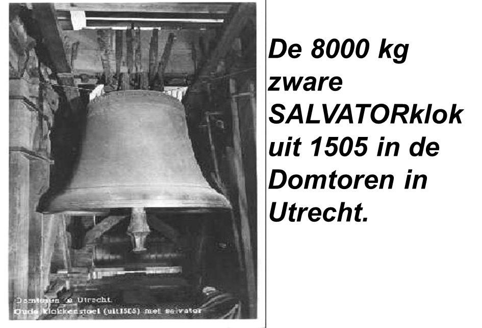 De 8000 kg zware SALVATORklok uit 1505 in de Domtoren in Utrecht.