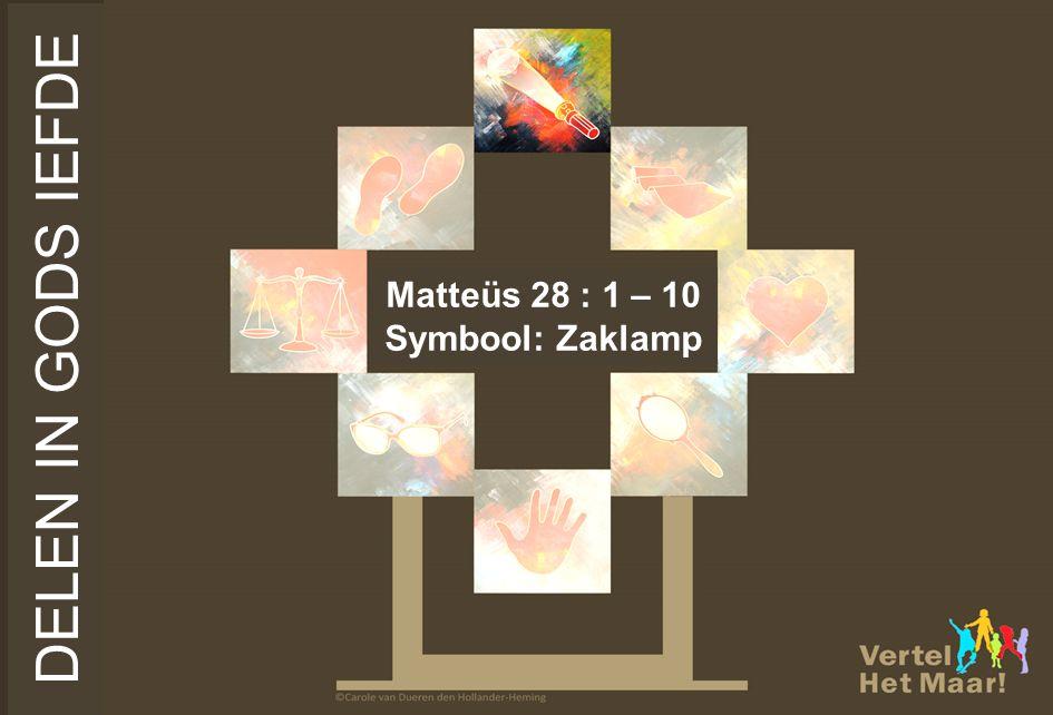 Matteüs 28 : 1 – 10 Symbool: Zaklamp DELEN IN GODS IEFDE
