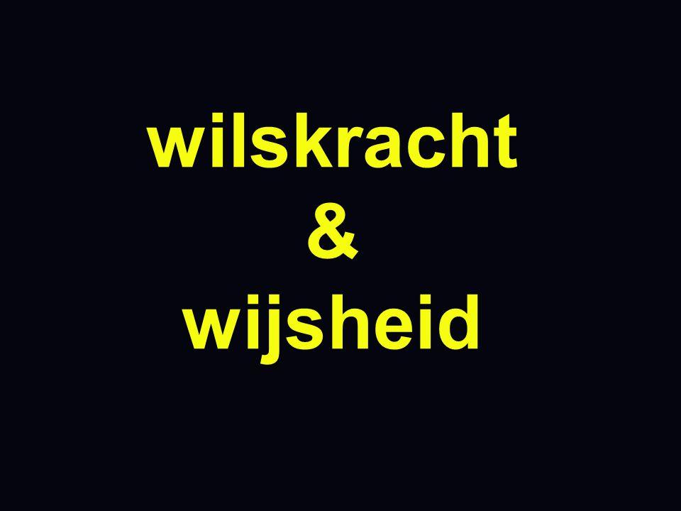 wilskracht & wijsheid