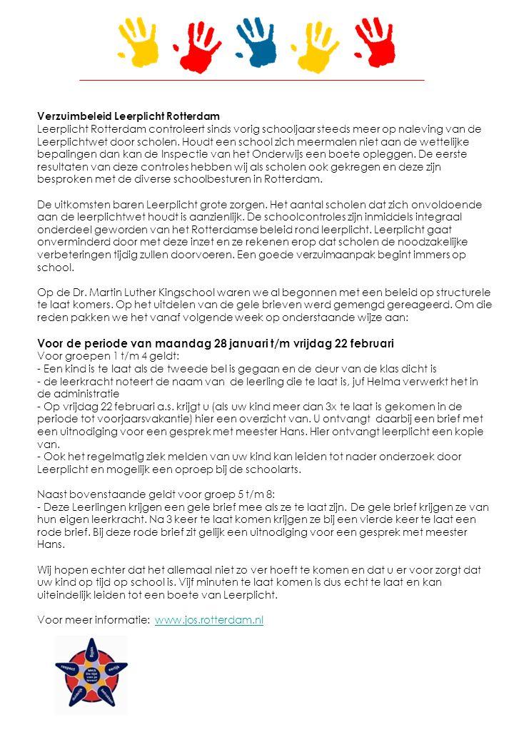 Verzuimbeleid Leerplicht Rotterdam Leerplicht Rotterdam controleert sinds vorig schooljaar steeds meer op naleving van de Leerplichtwet door scholen.