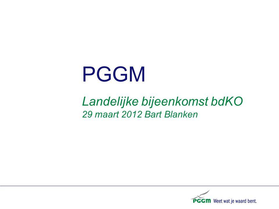 PGGM Landelijke bijeenkomst bdKO 29 maart 2012 Bart Blanken