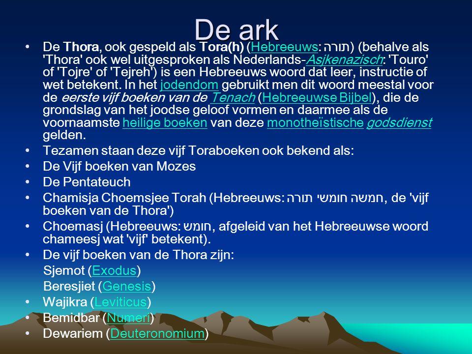 De ark De Thora, ook gespeld als Tora(h) (Hebreeuws: תורה) (behalve als 'Thora' ook wel uitgesproken als Nederlands-Asjkenazisch: 'Touro' of 'Tojre' o