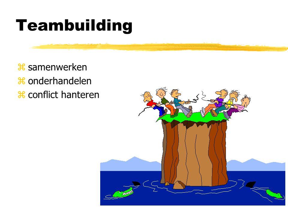 Teambuilding zsamenwerken zonderhandelen zconflict hanteren