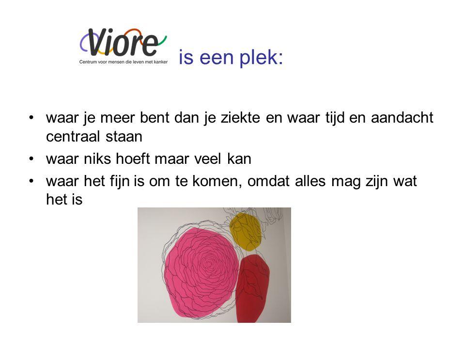 Programma Viore creatief Viore in gesprek Viore informeert Viore beweegt Viore verwerkt Viore verzorgt Viore ontspant