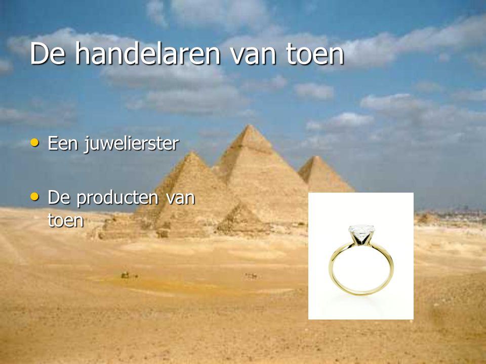 De handelaren van toen Een juwelierster De producten van toen