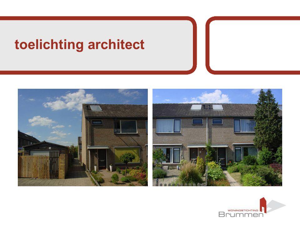 toelichting architect