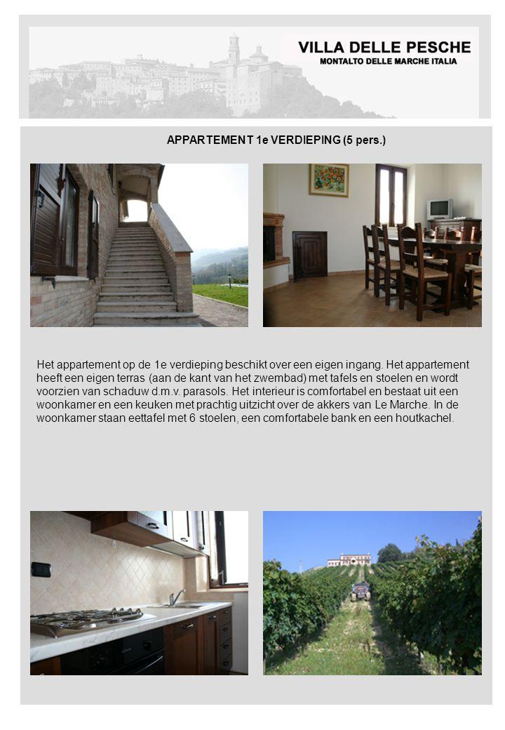 APPARTEMENT 1e VERDIEPING (5 pers.) Het appartement op de 1e verdieping beschikt over een eigen ingang.