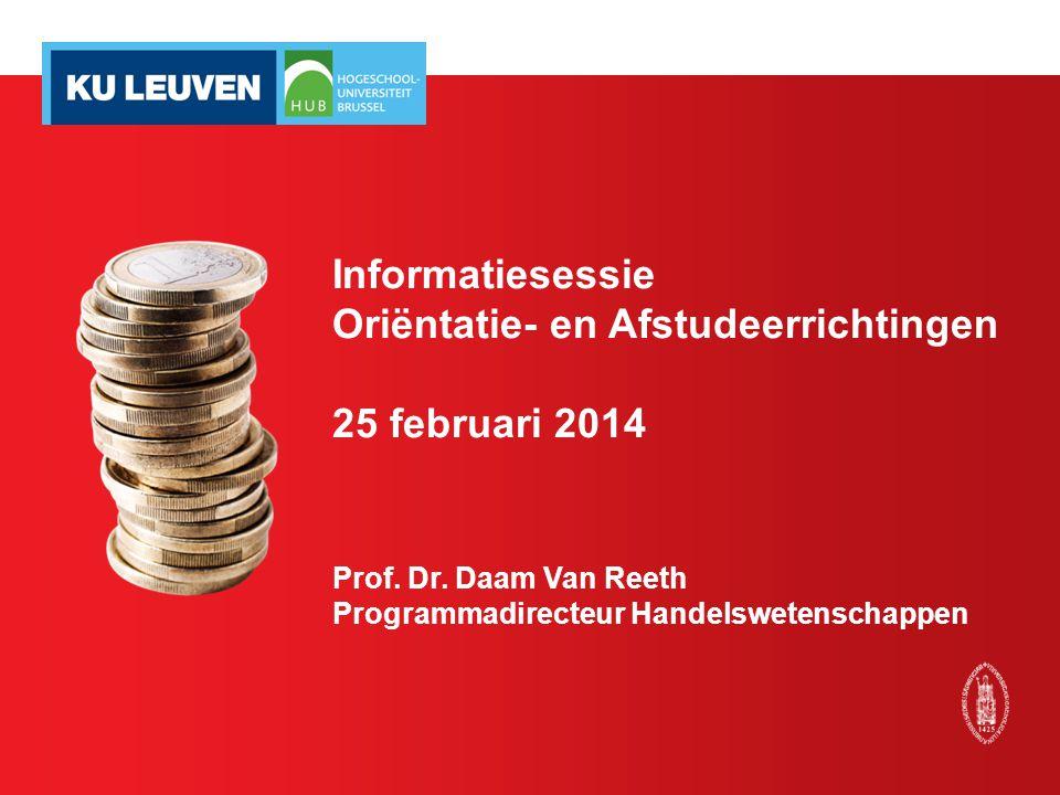 Informatiesessie Oriëntatie- en Afstudeerrichtingen 25 februari 2014 Prof.