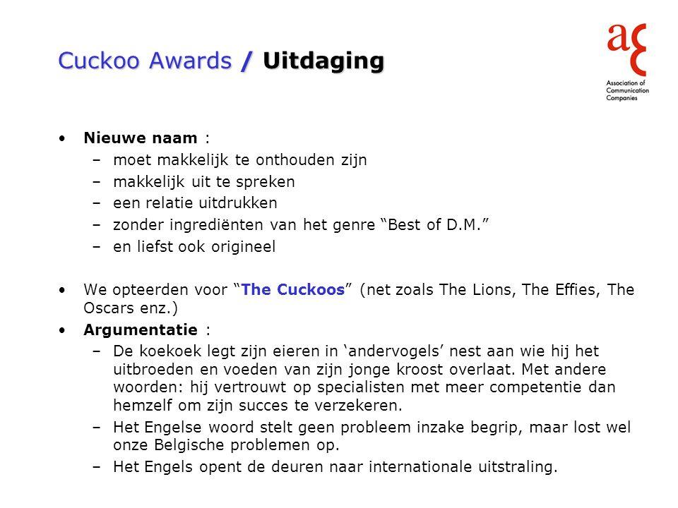 Cuckoo Awards / Re-birth of a DM award
