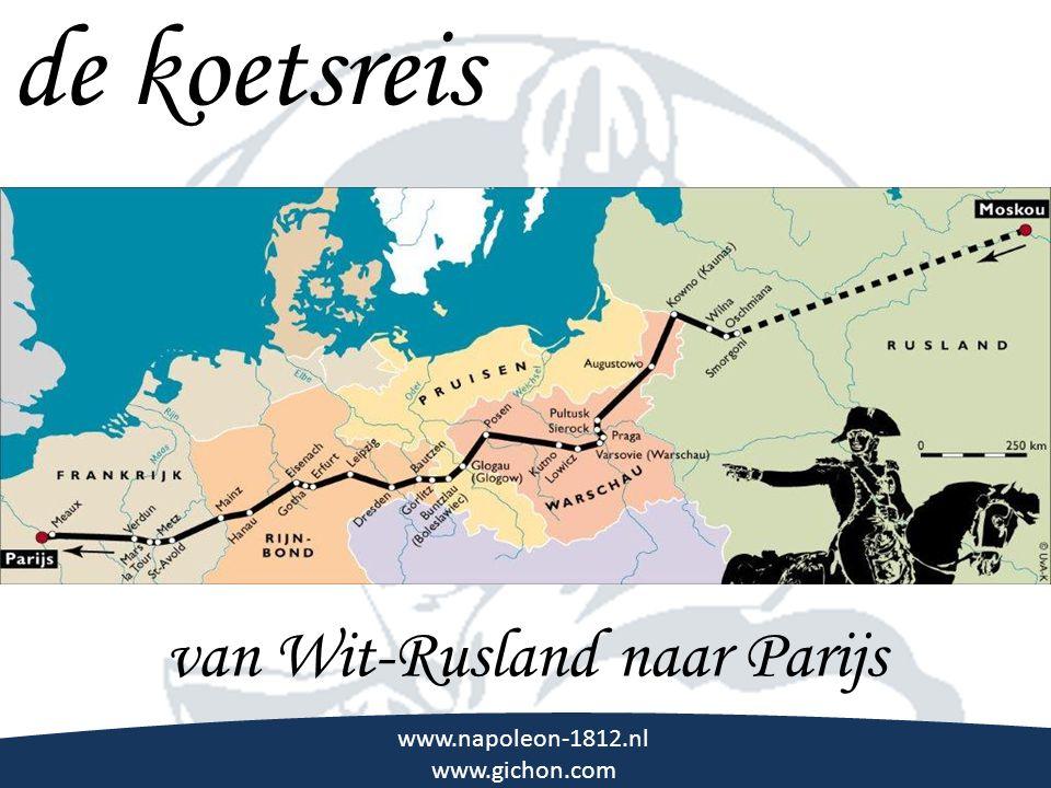\\\ www.napoleon-1812.nl www.gichon.com de koetsreis van Wit-Rusland naar Parijs