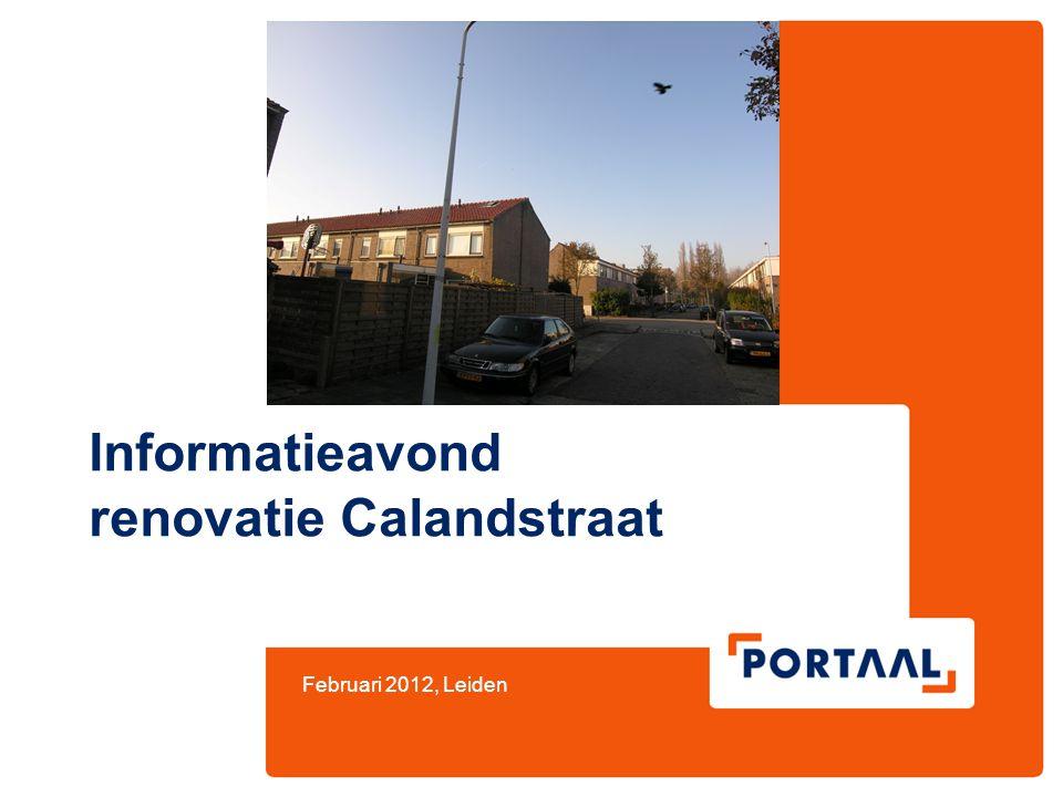 Informatieavond renovatie Calandstraat Februari 2012, Leiden