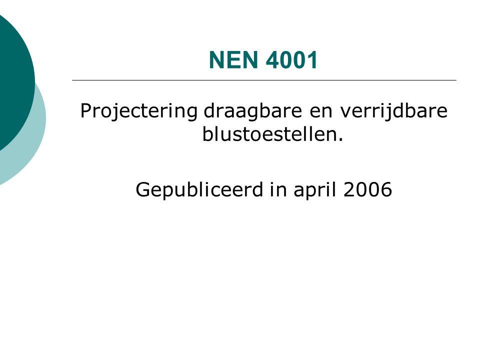 Projectering draagbare en verrijdbare blustoestellen. Gepubliceerd in april 2006