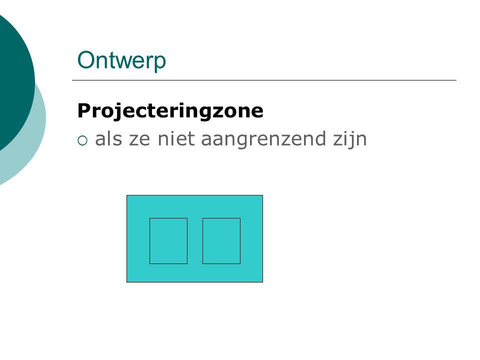 Ontwerp Projecteringzone  als ze niet aangrenzend zijn