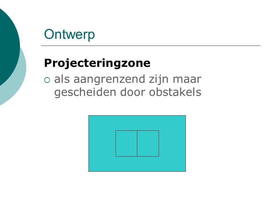 Ontwerp Projecteringzone  als aangrenzend zijn maar gescheiden door obstakels