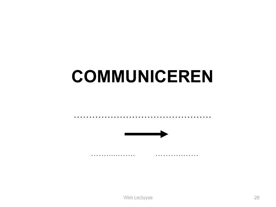 COMMUNICEREN ……………………………………… …….....…….………..…… 26Wim Lecluyse