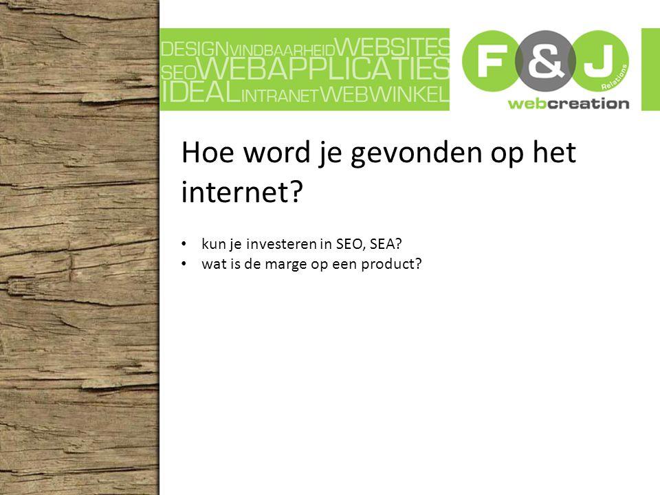Hoe word je gevonden op het internet. kun je investeren in SEO, SEA.