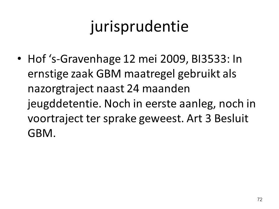 jurisprudentie Hof 's-Gravenhage 12 mei 2009, BI3533: In ernstige zaak GBM maatregel gebruikt als nazorgtraject naast 24 maanden jeugddetentie.