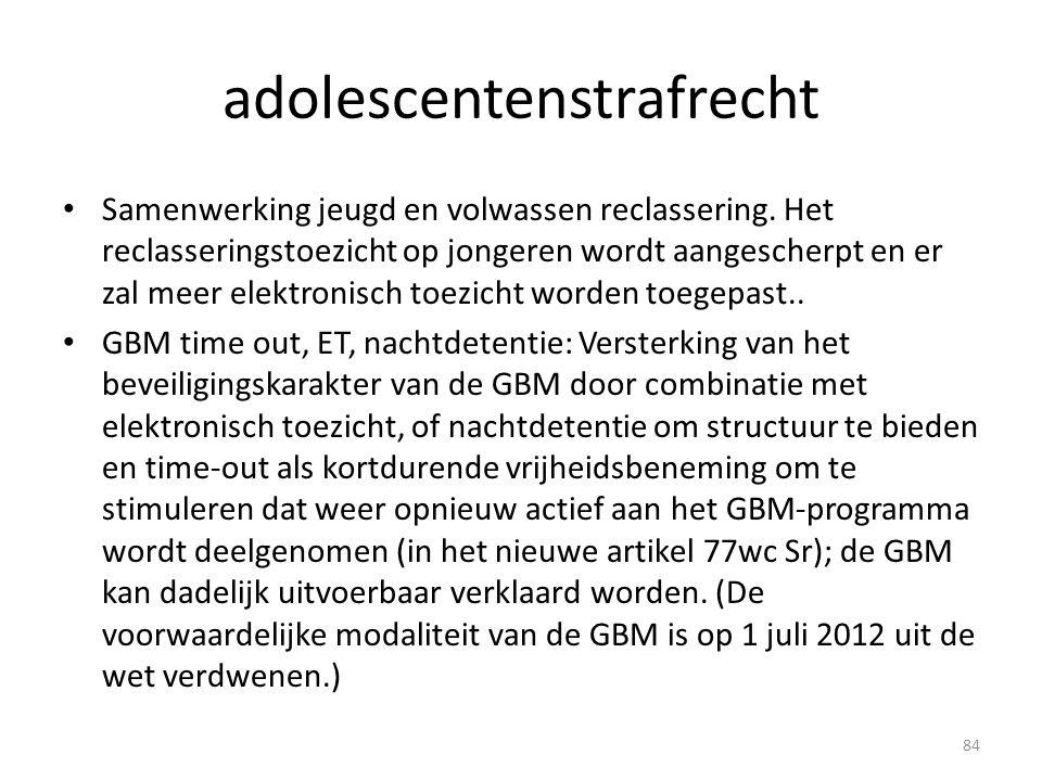adolescentenstrafrecht Samenwerking jeugd en volwassen reclassering.