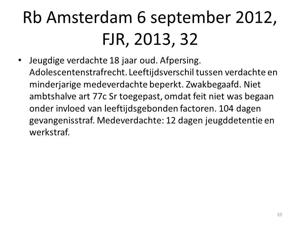 Rb Amsterdam 6 september 2012, FJR, 2013, 32 Jeugdige verdachte 18 jaar oud.