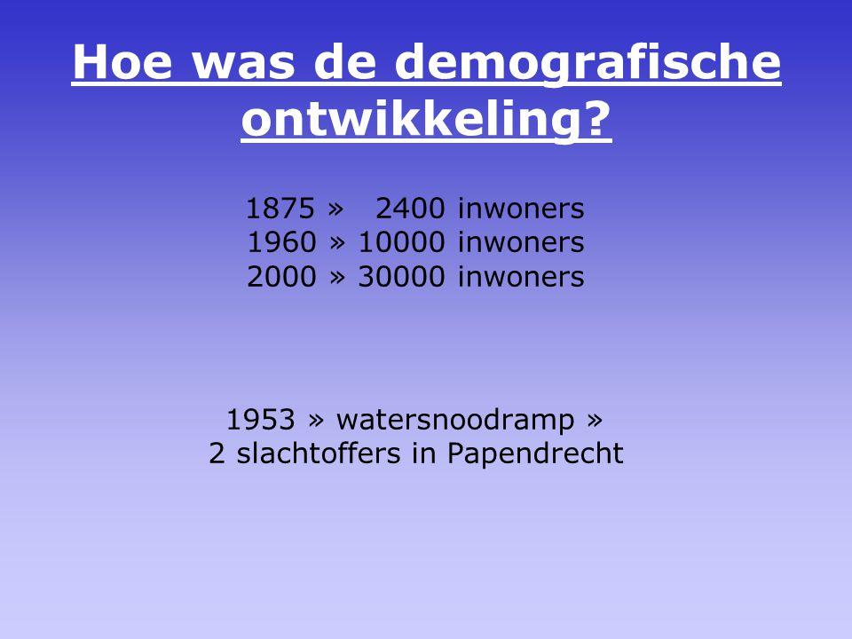 Hoe was de demografische ontwikkeling.