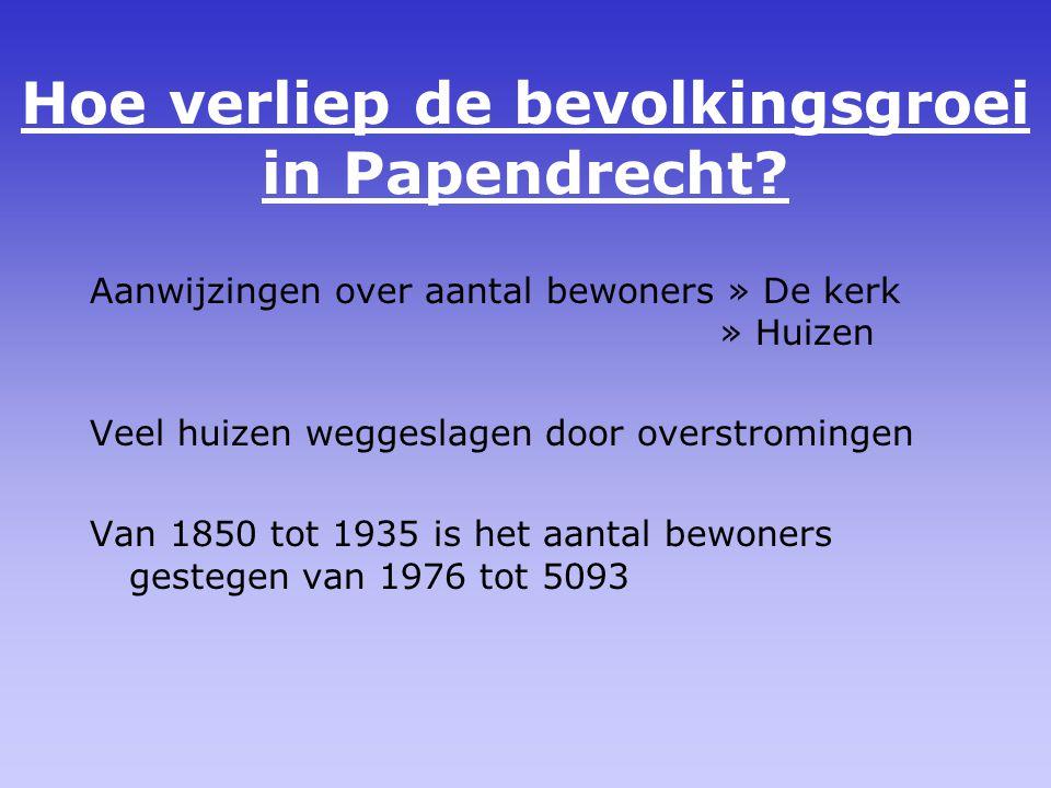 Hoe verliep de bevolkingsgroei in Papendrecht.