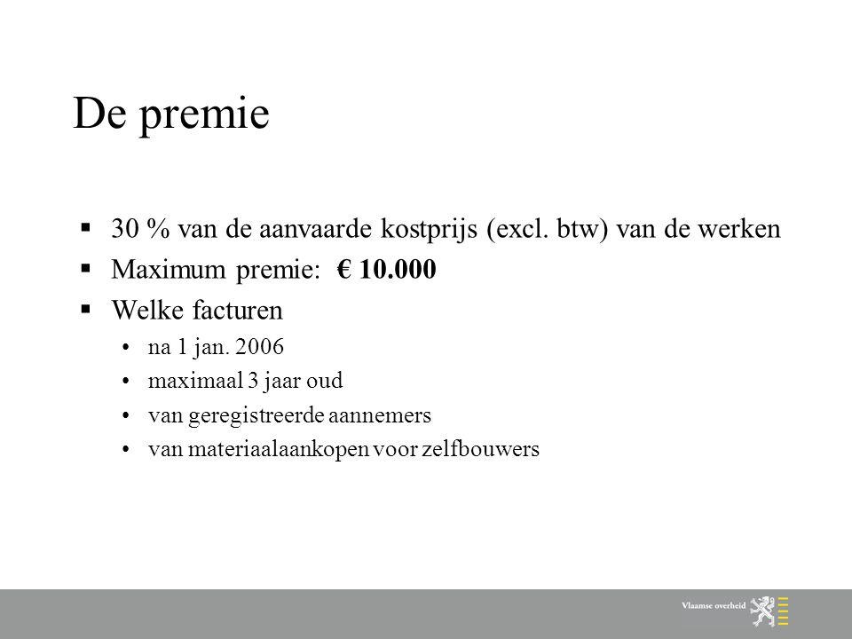 Welke werken - algemeen  werkzaamheden aan hoofdgebouw en aanbouw (losstaande bijgebouwen niet)  voor minstens € 10.000 (excl.