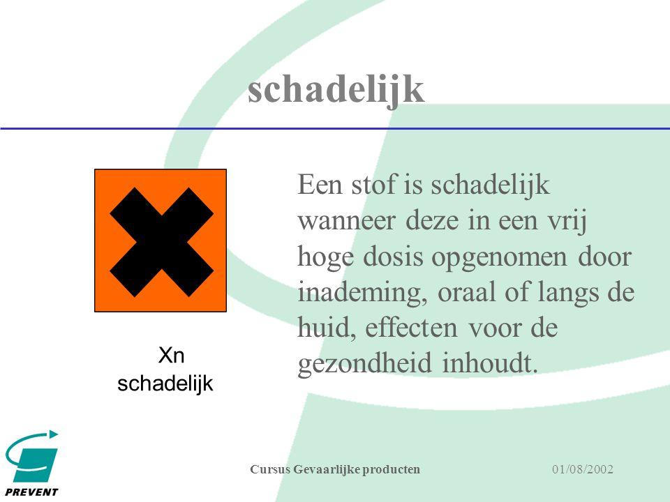 01/08/2002Cursus Gevaarlijke producten oxiderend Stoffen en preparaten die verbranding (oxidatie) van een brandbare stof kunnen onderhouden door (of via) aanbrengen van zuurstof.